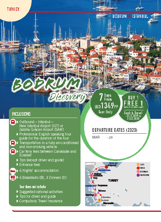 MyJourneys Turkey 07 Days Bodrum Discovery