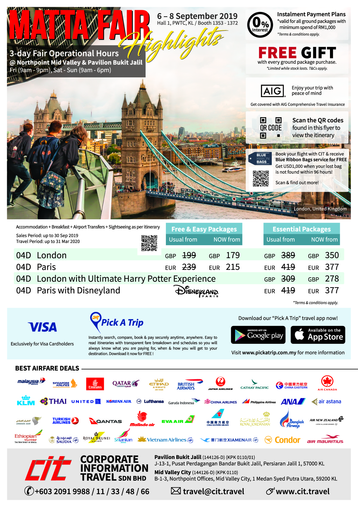MATTA Fair September 2019 | Corporate Information Travel