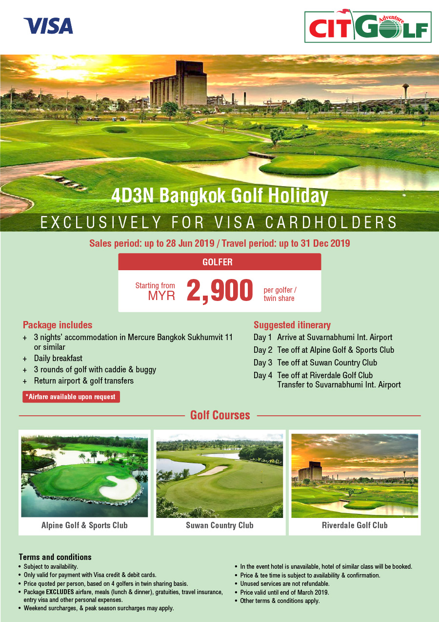 Golf Package – 4D3N Bangkok Golf Holiday – Corporate Information Travel