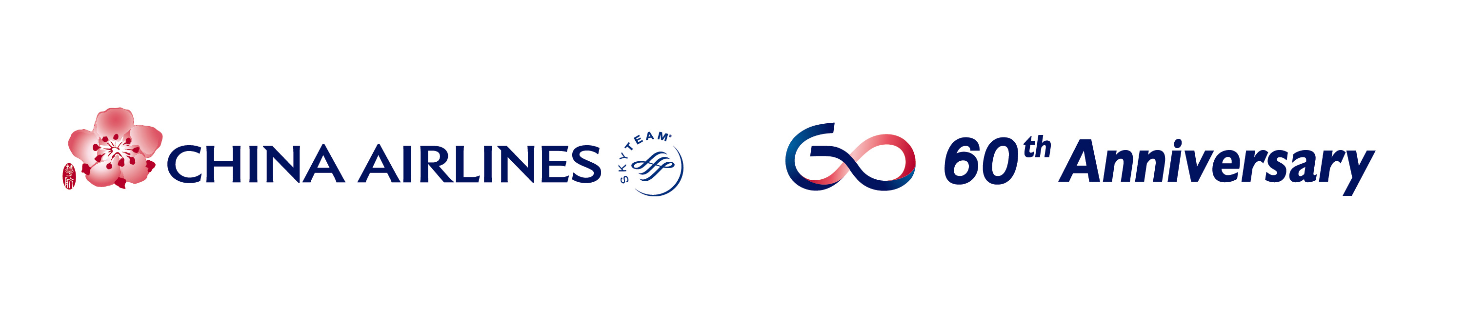 China Airlines Online Sales 60周年CI logo Horz