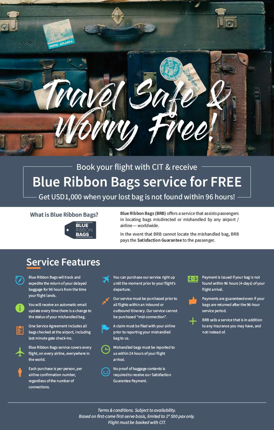 Blue Ribbon Bags service for FREE BRB Web