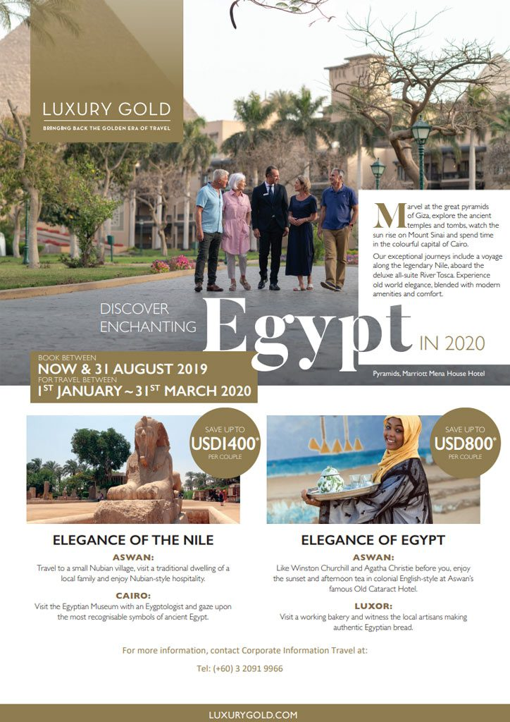 Insight Vacations Luxury Gold Discover Enchanting Egypt in 2020