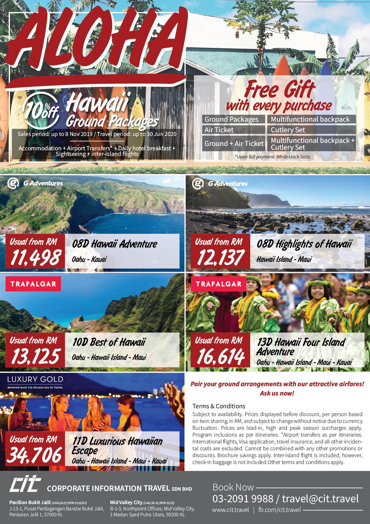 Hawaii Fiesta, Sunway Velocity Hawaii Flyer