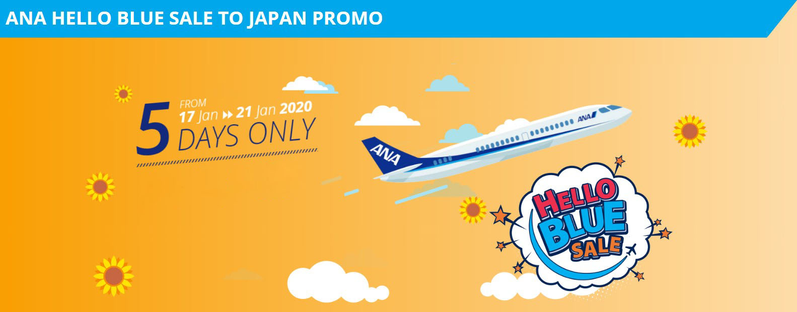 All Nippon Airways Hello Blue Sale ANA