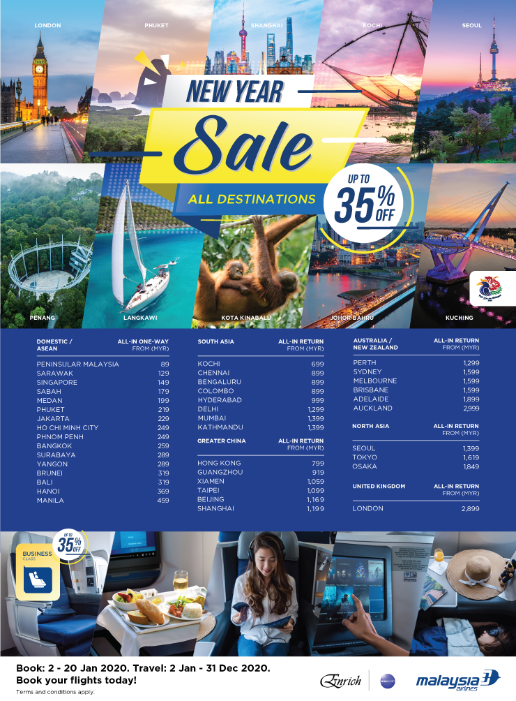 Malaysia Airlines New Year Sale MH New Year Sale 2020