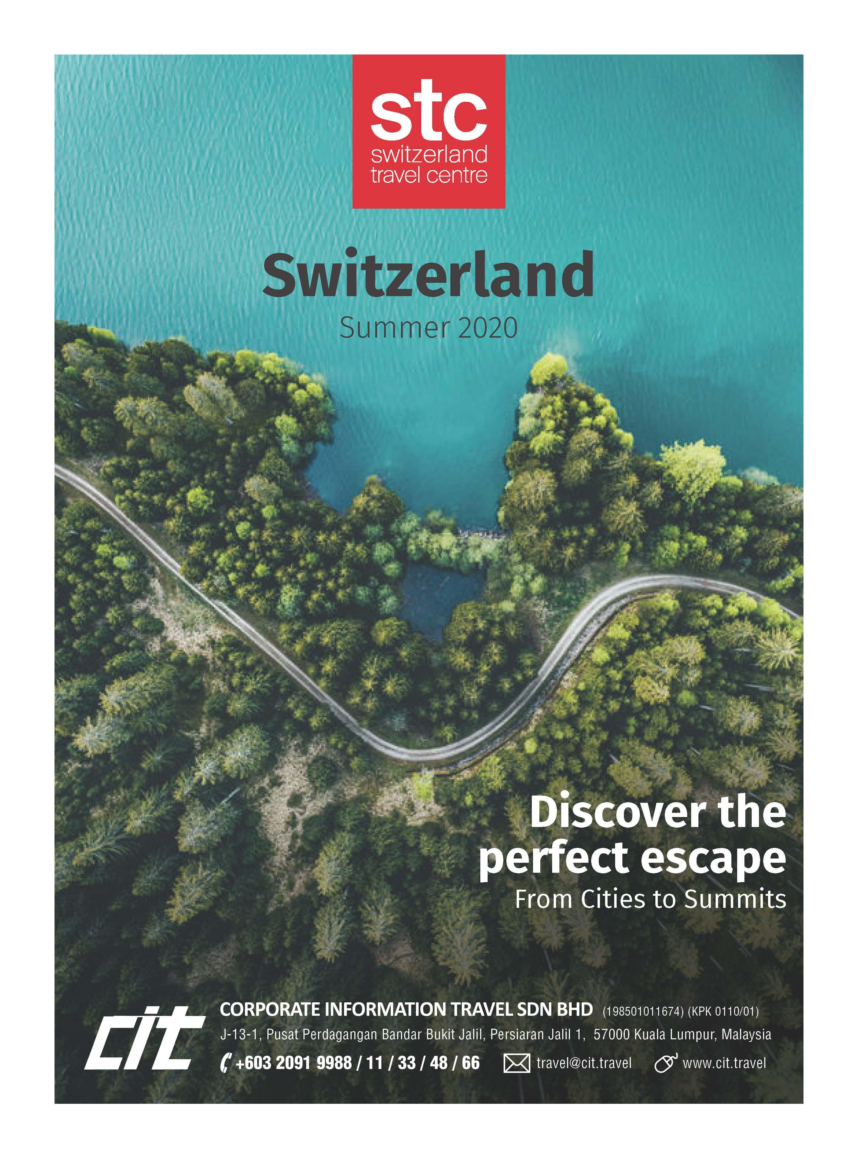 Travel to Switzerland Summer Brochure 2020 Btn