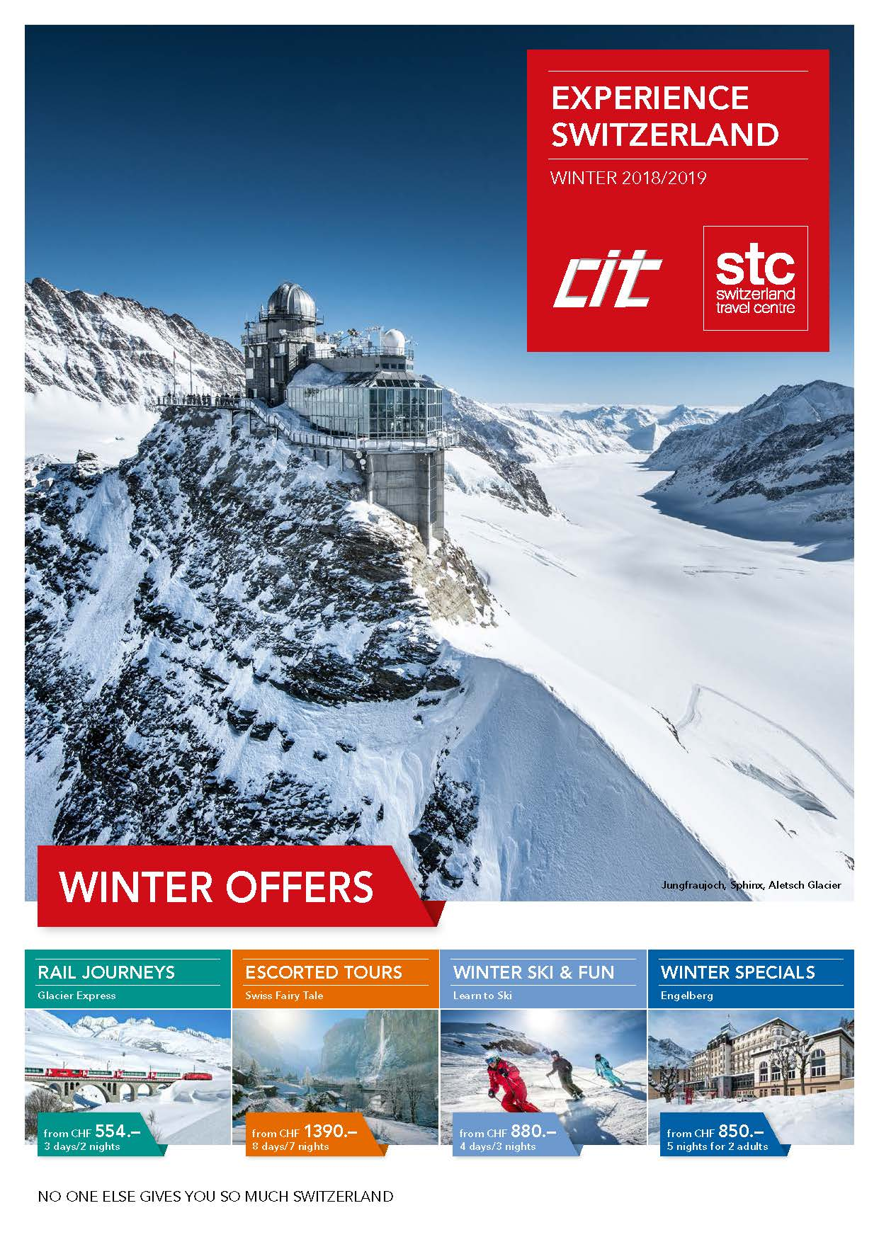 Travel to Switzerland Winter Brochure 2019