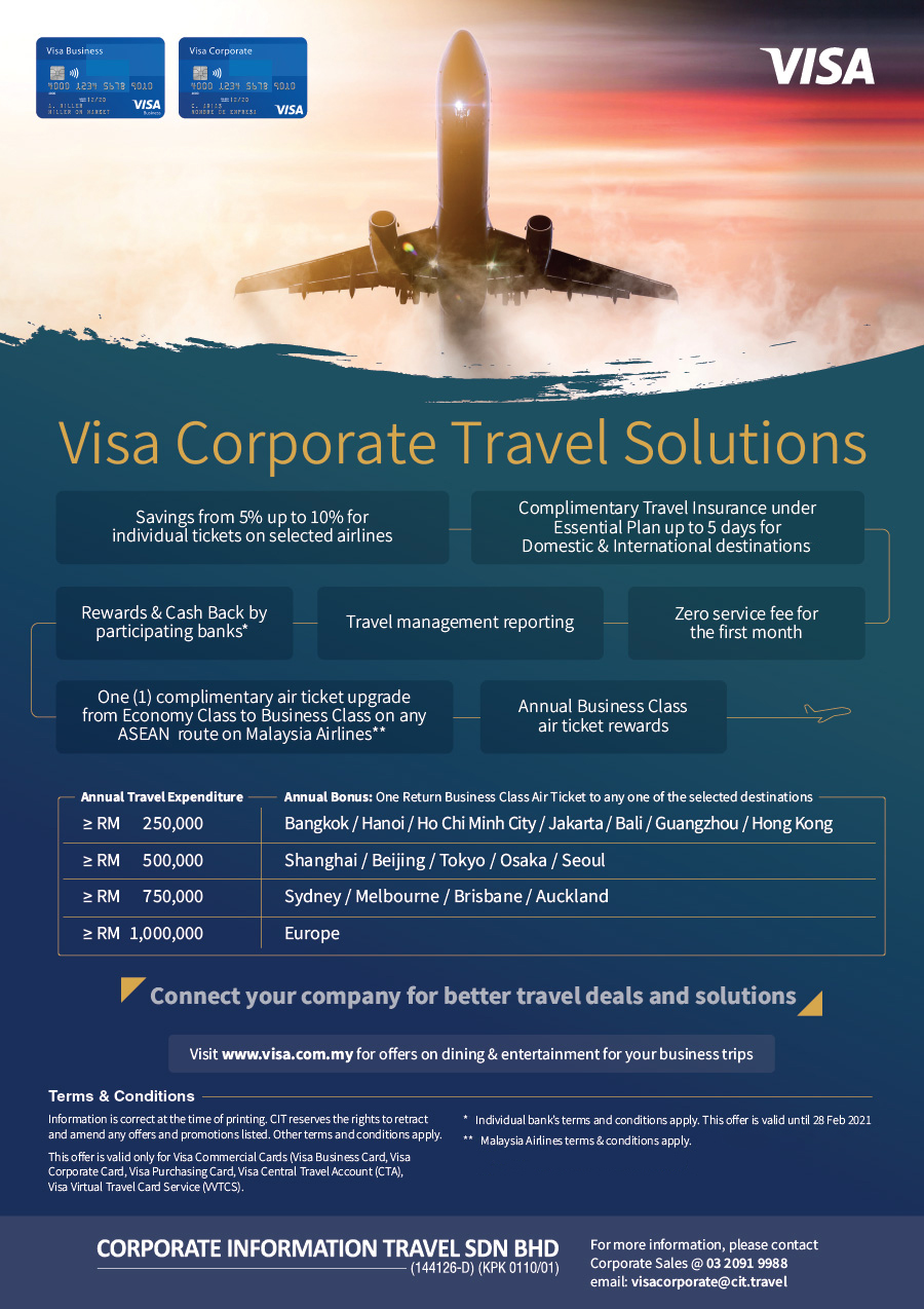 Corporate Travel ( Draft 2) CIT Visa Corporate Flyer