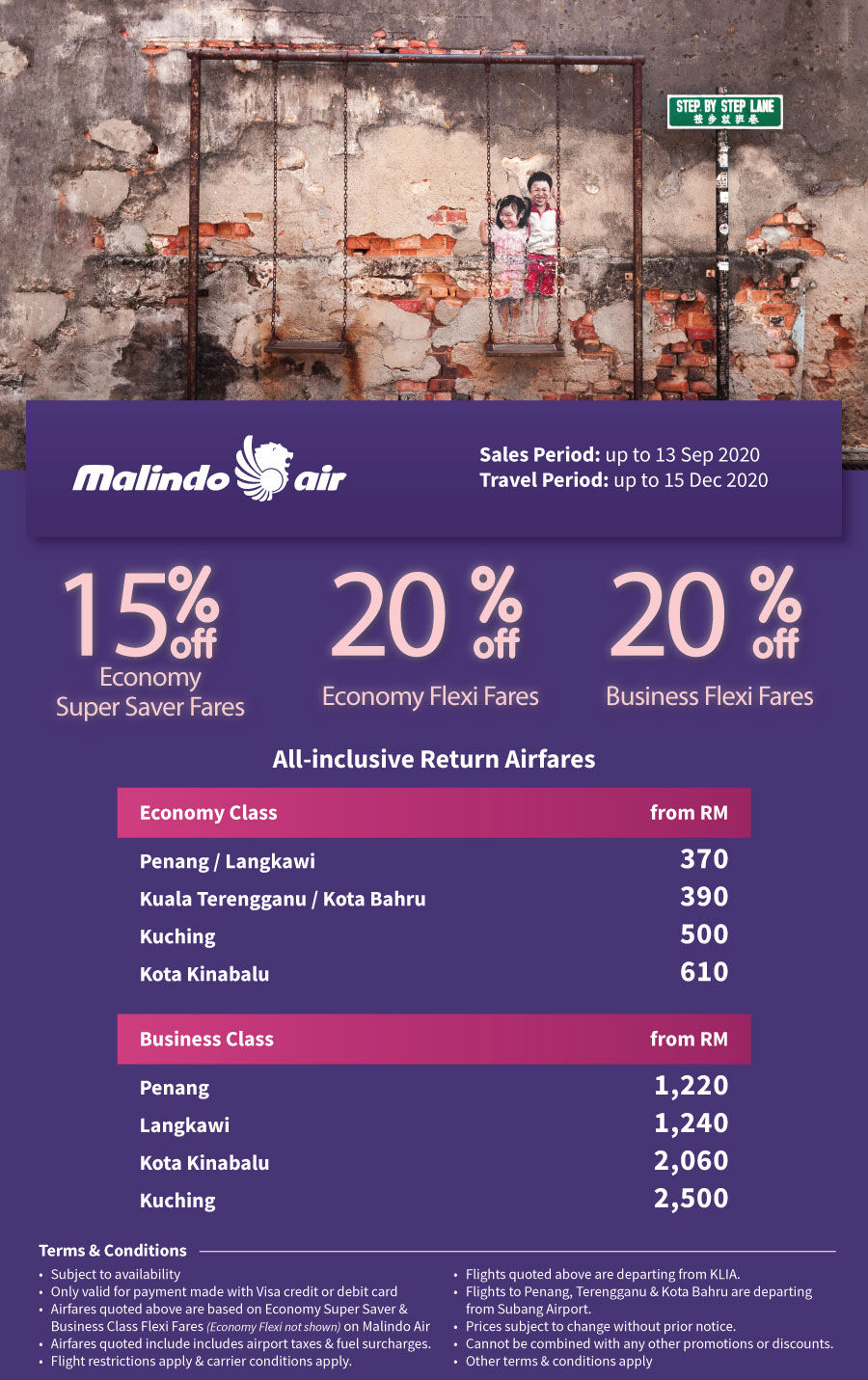 Travel locally with Malindo Air for your next getaway! EDM OD