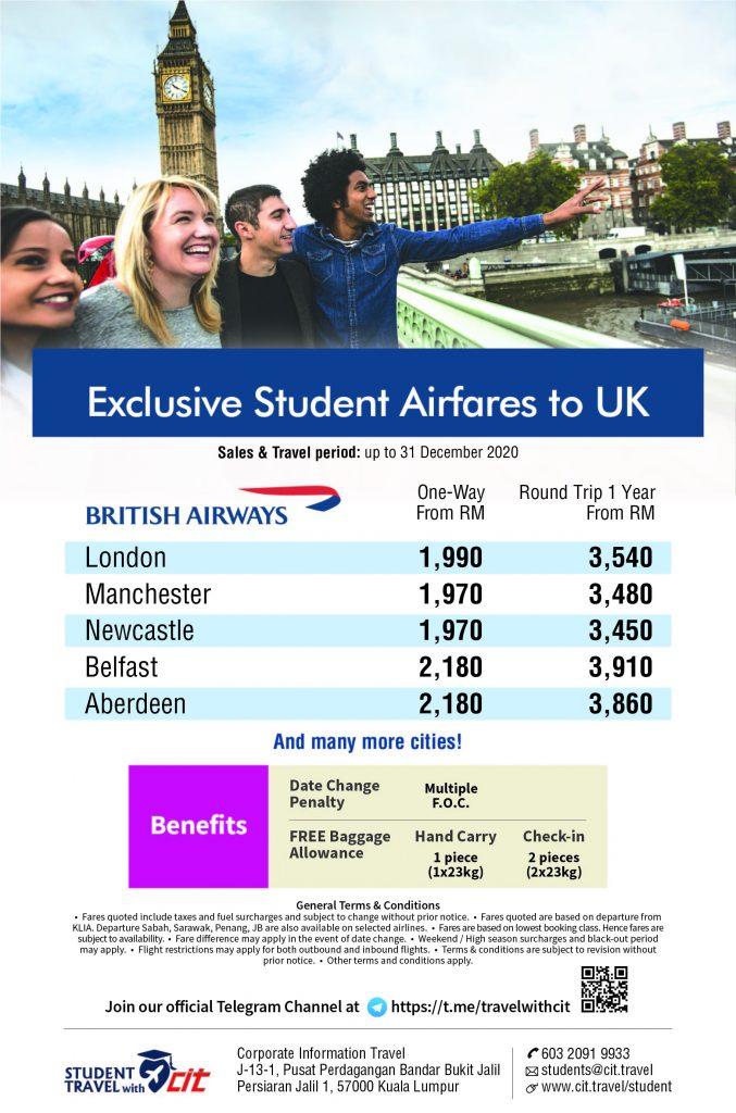 Student Promotion BA UK FLYER 201008