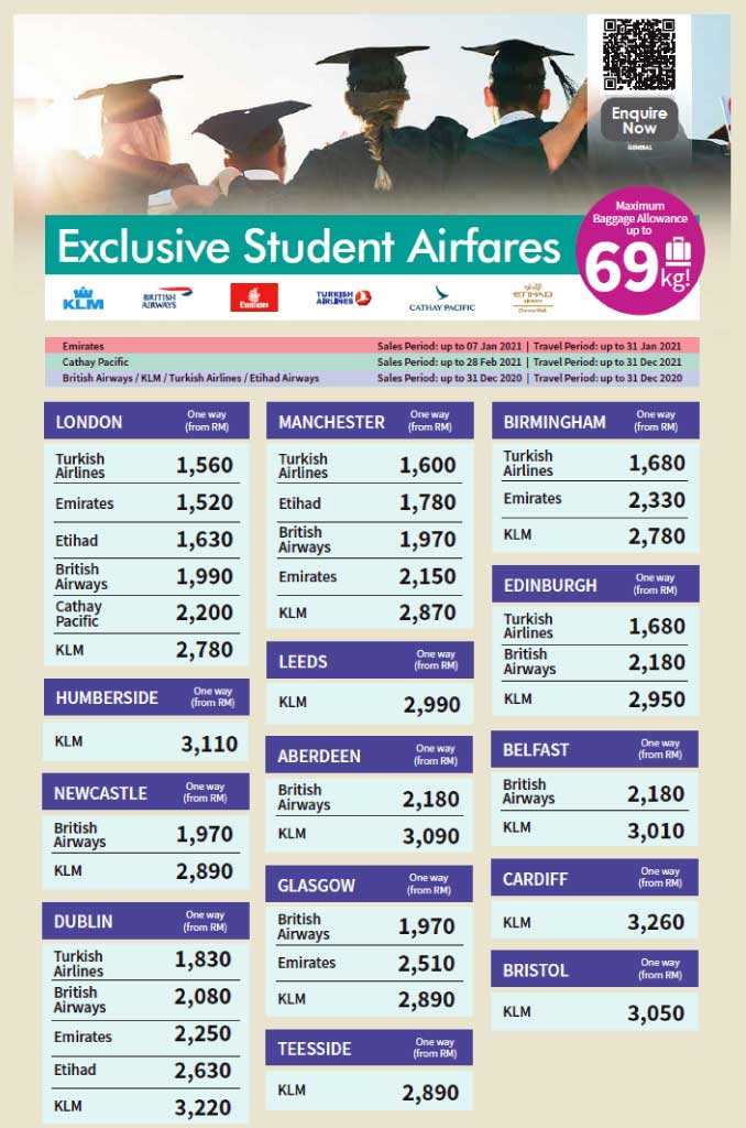 Student Promotion Student Airfares OW 3