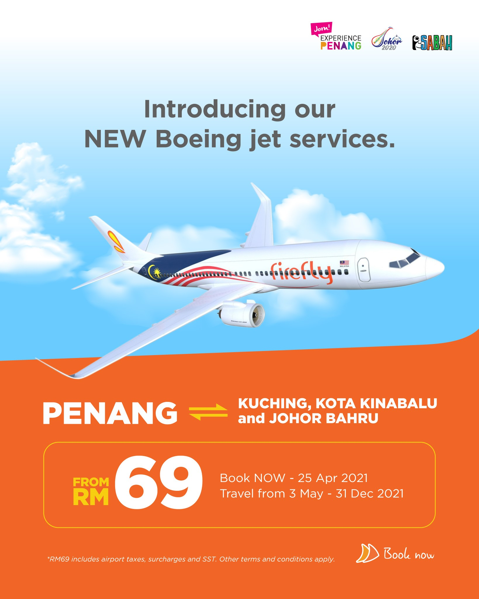 Firefly - Penang departure from RM69 FIREFLYZ PROMO