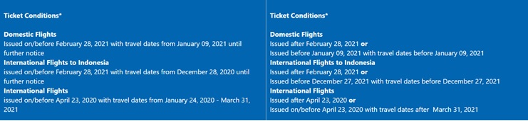 Airlines Travel Waiver GA TNC