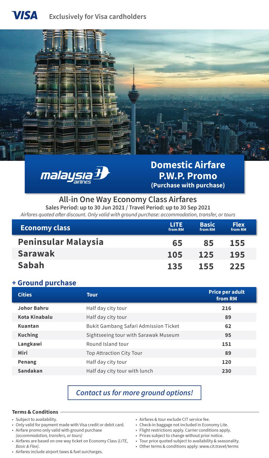 Malaysia Airlines Domestic Promo VISA PremiumOffer MH Domestic May2021