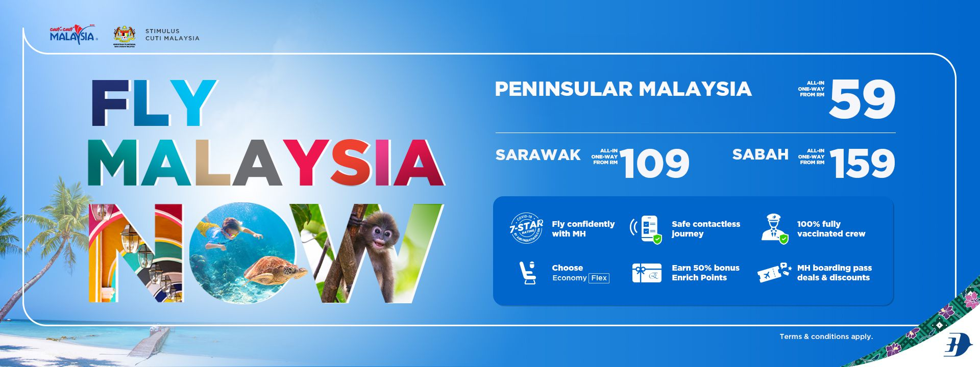 Malaysia Airlines It's time to fly Malaysia! mh fly malaysia now